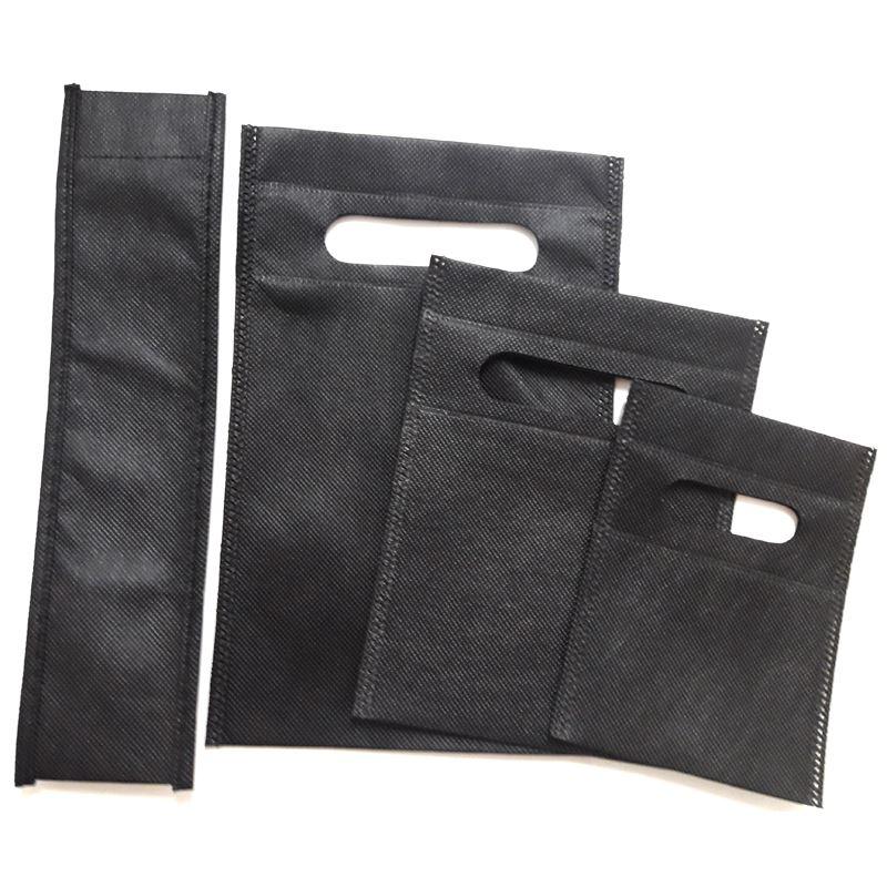 aa526eff4 Bolsa negra de tela en 4 medidas