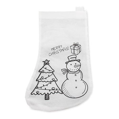 Calcetín de navidad para colorear