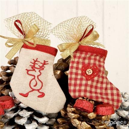 Calcetines colgantes de navidad con bombones - Calcetines de navidad personalizados ...