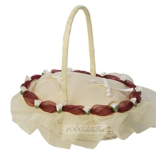 Cestas para anillos de boda - Decoracion de cestas ...