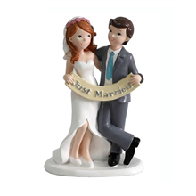 Figura pastel novios Just Married