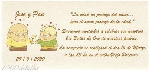 Frases De Aniversario En Espanol: Invitación 50 Aniversario Enamorados