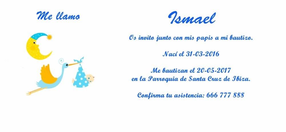 Invitación De Bautizo Con Cigüeña Niño