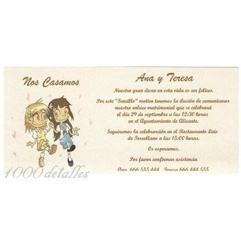 invitaciones de boda de novias