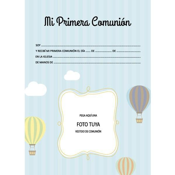 Libro de firmas comuni n ni o con malet n for Interior libro de firmas comunion