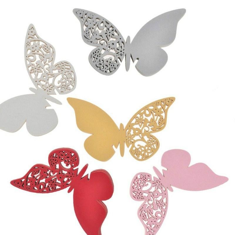 Mariposas de colores para copas